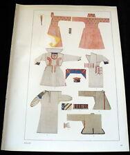 POLAND TRADITIONAL Costume Designs Print Kostumschnitte Gewandformen 1940s
