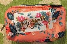 NWT Lesportsac x Rifle Paper Co Rectangular Cosmetic bag Bonjour Cosmetic new