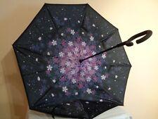 Women's Ladies' Upside Down Reverse Floral Umbrella
