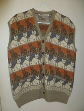 Women's Judith Glue Cat Lover's Multi-color Cardigan Sweater Vest, Size XL