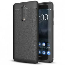 Nokia 8 Leder Look Handy Hülle von NALIA TPU Silikon Cover Case Schutz Dünn Slim