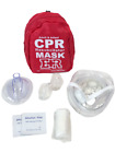 First Aid Adult And Infant Cpr Mask Combo Kit Red With 2 Valves