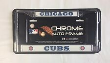 Chicago Cubs Chrome/Metal Auto Tag License Plate Frame New