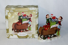 Gorham Once Upon A Christmas Elves Sleigh Figurine Brand New IOB Kathy Ireland