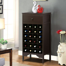 6 Layer 24 Bottles Kitchen Holder Bar Storage Wood Wine Rack Cabinet Rack Drawer