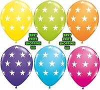 """Pack of 10 - 12"""" Stars Printed Ballons Assorted Colour - Latex Balloons Party,,"""
