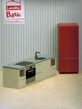 Lundby 60.3066 Smaland Basic Küchen Set - Herd Kühlschrank Puppenhaus 1:18