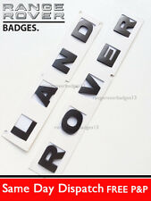 Land Rover Motorhaube Schriftzug Emblem Embleme Buchstaben Brunel grau