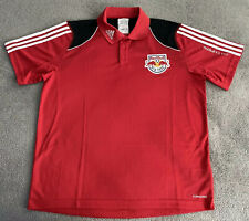 NEW YORK RED BULLS ADIDAS MLS POLO SHIRT MENS LARGE NWT