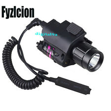 Fyzlcion Red Laser Sight/CREE Q5 LED Flashlight Torch Combo Glock 17 19 22 20 23