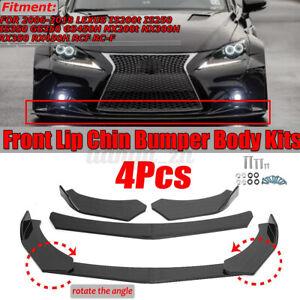 4X Carbon Look Front Bumper Lip For LEXUS IS200 IS250 IS300 IS350 GS300 F-Sport