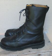 Cole Haan Black Leather Combat Tie/Lace Mid Calf Boots  Size 9.5 B