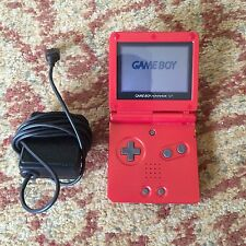 Nintendo Game Boy Advance SP Launch Edition Flame Red Handheld System
