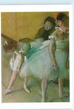 Examen de Danse Hilaire G.E. Degas Ballet Ballerina 4x6 Postcard A41