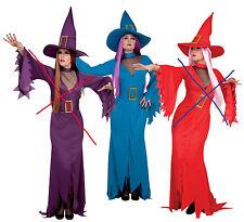 sorcière bleue avec decolleté taille 40/42 deguisement costume halloween soirée