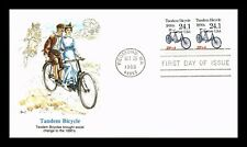 Dr Jim Stamps Us Tandem Bicycle Transportation Coil Unsealed First Day Cover