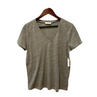 LACAUSA Women's Gray Short Sleeve T-Shirt Size Large New with Tags