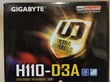 Gigabyte GA-H110-D3A ATX LGA 1151 Intel Motherboard w/ IO Shield