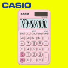 Casio My Style 10 Digit Handheld Portable Calculator Tax/Time Calculation - Pink