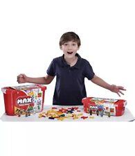 Lot Of 2 MAX Build More Building Bricks Value Set 759+253 Pieces Storage Tote