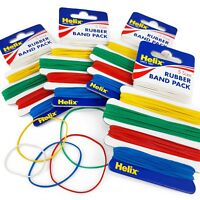Helix - Elastic Rubber Bands - Pack of 300 - 5 Colour Coded Sizes