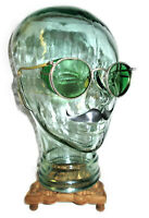 Antique American Optical Ful Vue Green Sunglasses Goggles Vtg Old Steampunk AO
