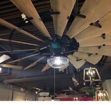 "New Finish Noir (BLACK) Quorum 60"" Windmill INDOOR Ceiling Fan"