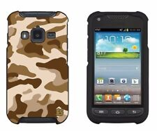 For Samsung Galaxy Rugby Pro i547 Protector Case Design Cover Combat Brown Camo