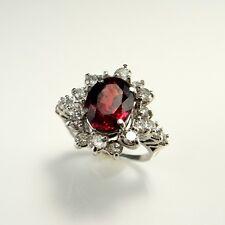 RRRR! HUGE Natural Unheated Unenhanced Ruby Diamond Engagement Wedding Ring 14K