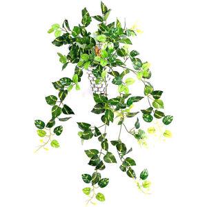 Artificial Hanging Plants Fake Fern Trailing Foliage Plastic Flower Leaf Decor U