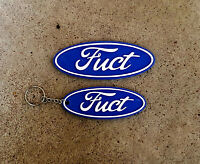 Novelty Ford racing FRP FPV badge and keyring set Holden HSV FUCT car