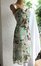 Comma etui-kleid chiffon  top wie neu  grün 38 ( 40 ) spitze