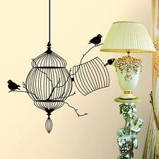 Bird Cage Tree Wall Sticker Art Balcony Living Home Decor Wall Decal Ornament #w