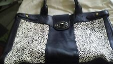 fossil weekender black white handbag
