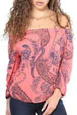 Maglie e camicie da donna maniche a 3/4 viscosi floreali
