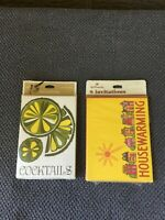 Vintage Hallmark COCKTAIL PARTY&HOUSEWARMING  Boxed Invitations 60's 70's LOT