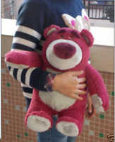 "New Toy Story 4 Lotso Bear Strawberry Smell Plush 12"" Large Doll Toy Birthday"