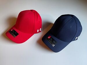 NEW Under Armour Blank Blitzing Pre-Curved Stretch Structured Cap Hat - 1282154