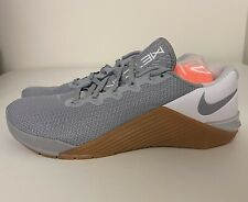 Nike Metcon 5 Wolf Grey White Gum CrossFit Training Shoe Mens Sz 9.5 AQ1189-019