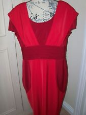 Neuf TRINNY & Susannah bicolore robe rouge taille uk 18