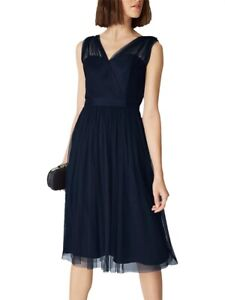 Phase Eight Romy Tulle Dress Navy Blue Size 14 BNWT Formal Wedding Bridesmaid
