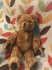 Pedigree Cinnamon mohair teddy bear/bells in ears. Excellent condition. 1950-60