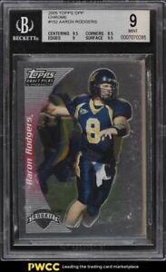2005 Topps Draft Picks & Prospects Chrome Aaron Rodgers ROOKIE RC #152 BGS 9