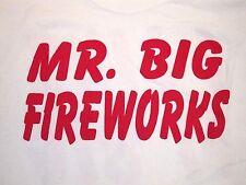 """Mr. Big Fireworks Firecrackers July 4th """"I Like It Big"""" T Shirt XL"""