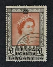 KUT, QEII, 1954, £1 brown-red & black value, SG 180, used condition, Cat £22.