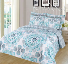 6-piece Super Soft Queen Size Pinsonic Quilted Reversible Bedspread Set - Carly