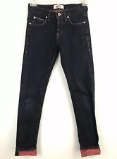 Naked & Famous Jeans Red Weft Stretch Selvedge Denim Super Skinny 28 Red Patch