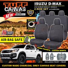 TUFF Canvas CHARCOAL Seat Covers Isuzu DMAX Dual Cab LS-U 2ROW 6/2012-19 D-MAX