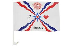 Autofahne Fahne Flagge Assyrien  30 x 45 cm Höhe 44 cm (2er Set) (0520780)