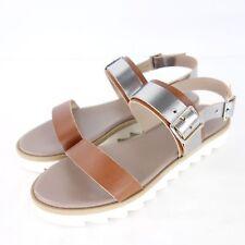 5315e36705a198 CAIMAN Damen Sandalen Schuhe 3372 Gr 40 Metallic Braun Flach Leder NP 105  NEU